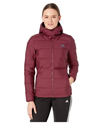 adidas Outdoor Helionic Hooded Jacket (Maroon) Women