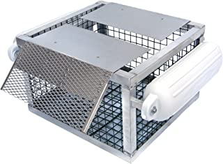 Pond King Floating Turtle Trap; Welded, All-Aluminum Frame; Flippers with Stainless Steel Hinges
