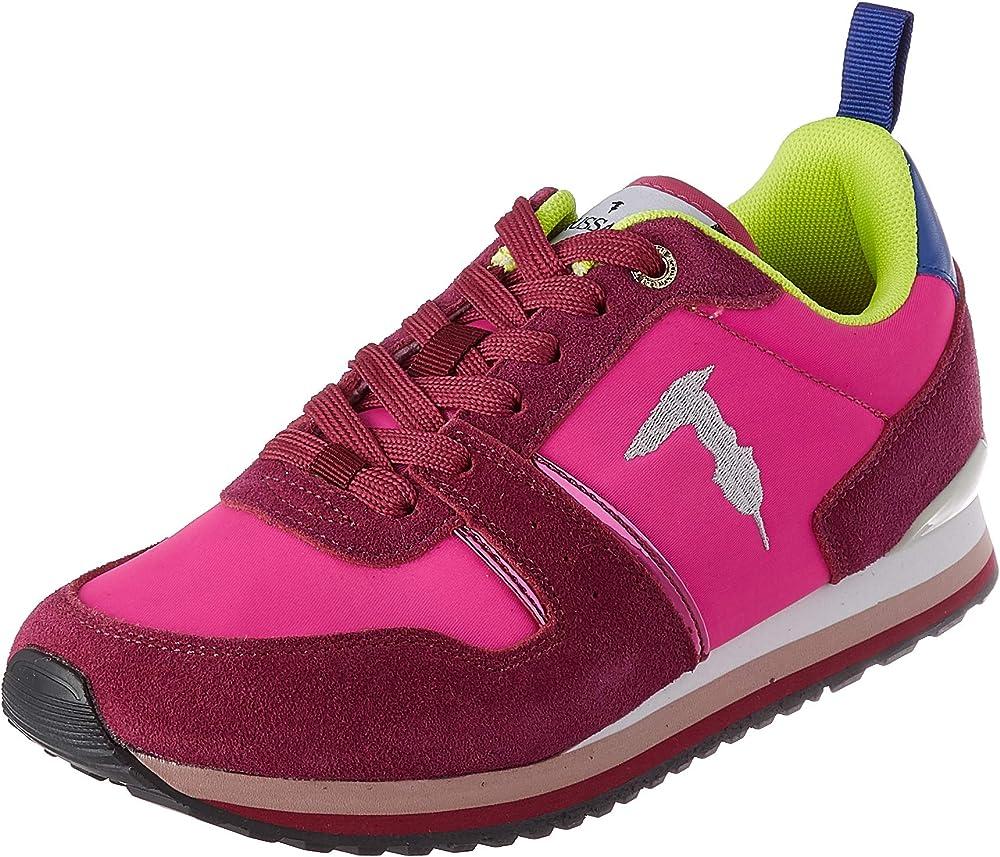 Trussardi jeans berberis , scarpe da ginnastica,sneakers donna,in camoscio e nylon 79A005499Y099998