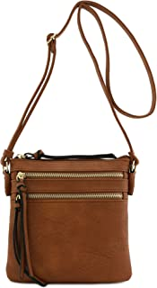 Functional Multi Zip Pocket Crossbody Bag