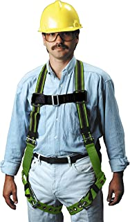 Miller DuraFlex Stretchable Full Body Safety Harness with Leg Tongue Buckles, Size XXL, 400 lb. Capacity (E650-4/XXLGN)