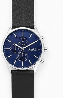 Skagen Holst Men's Blue Dial Leather Analog Watch - SKW6606