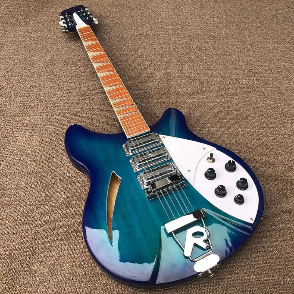 YYYSHOPP Guitarras y Engranajes 12 Cuerdas Eléctricas Guitarra Pintura Azul Guitarra Eléctrica Acero Acústico Cuerda Guitarras Guitarras clásicas (Color : Guitar, Size : 40 Inches)