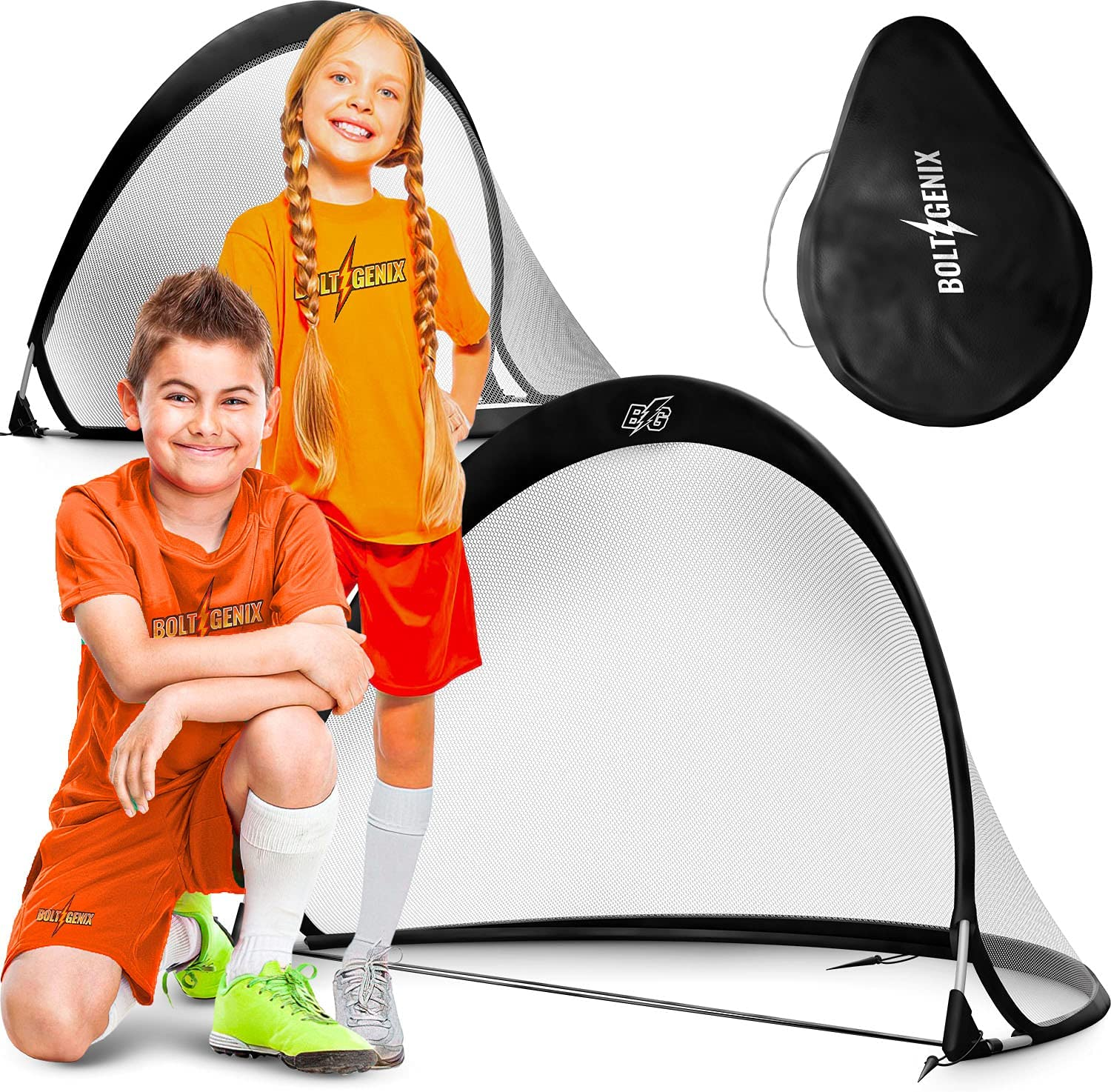 Bolt Genix Small Portable Soccer Goals - Max 57% OFF 2 Set Today's only Pop Up of