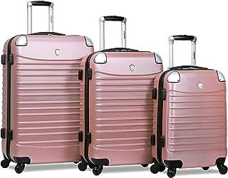 Dejuno Impact Hardside 3-Piece Spinner Luggage Set-Rose Gold
