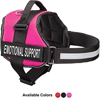 Emotional Support Dog Vest Harness With Reflective Straps, Interchangeable Patches, & Top Mount Handle - ESA Dog Vest in 8 Adjustable Sizes - Heavy Duty Emotional Support Dog Harness for Working Dogs