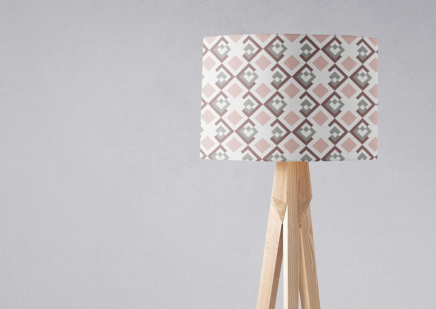 Pink and White Topics on TV Geometric Lampshade Retro Shade Ceiling Light 70% OFF Outlet or
