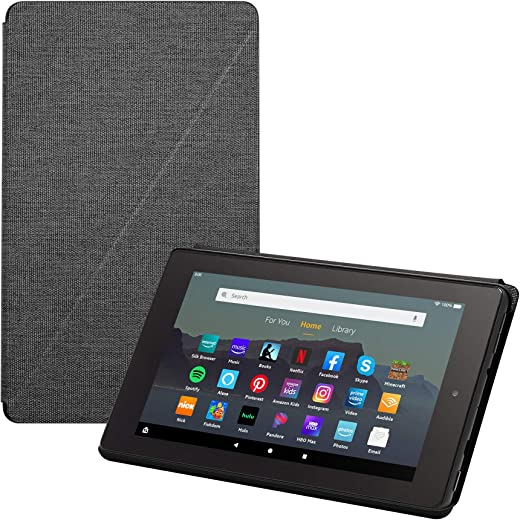 Fire 7 Essentials Bundle including Fire 7 Tablet (Black, 16GB), Amazon Standing Case (Charcoal Black), and Nupro Anti-Glare Screen Protector