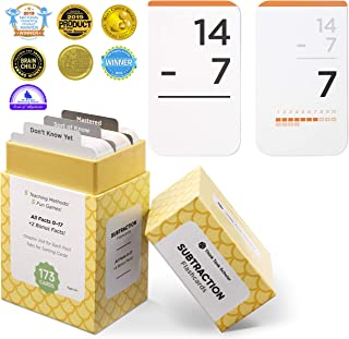 Think Tank Scholar 173 Subtraction Flashcards | All Facts 0-17 Color Coded | Best for Kids in Kindergarten,1st, 2nd, & 3rd Grade