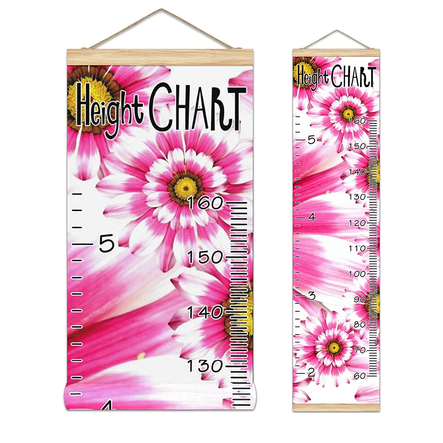 Kids 2021 Growth Chart Ruler for Measure Height Safety and trust Frame Wall Wood