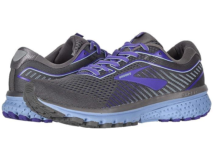 Brooks  Ghost 12 (Shark/Violet/Bel Air Blue) Womens Running Shoes