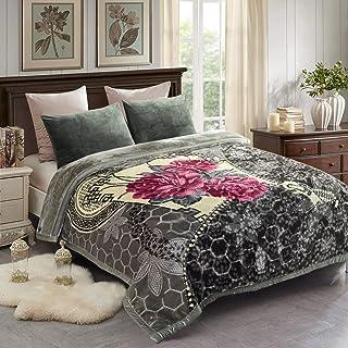 "JML Fleece Blanket, Plush Blanket King Size 85"" x 93"", 10 Pounds Heavy Korean.."