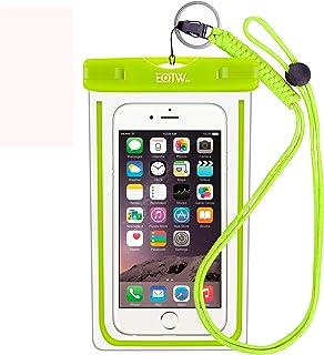 防水ケース スマホ用 EOTW® IPX8防水 防塵 Face ID対応 タッチ可能 防水携帯ケース iPhone 11 Pro Max X XR XS Androidに対応 海 プール お風呂 海水浴 スキーなど適用(グリーン)