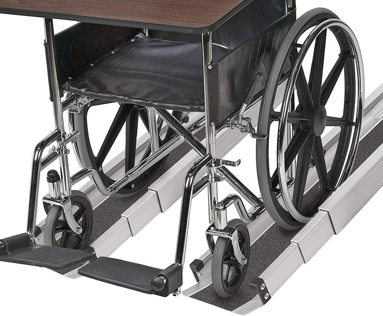 MABIS DMI Healthcare Portable overseas Wheelchair Adj Ramp Threshold Phoenix Mall and