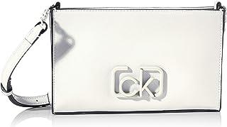 حقيبة اي دبليو طويلة تمر بالجسم بشعار العلامة التجارية من كالفن كلاين، 24 سم - K60K606504