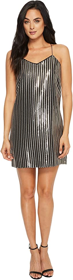 CeCe - Mia Stripe Sequin Slip Dress