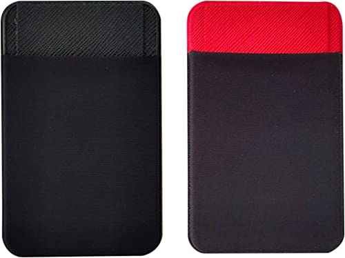 GoArtea® Lycra Stiko Mobile Phone Case Card Holder, Stick On Wallet for Credit Card,Business Card Metro Rail Card, fo...