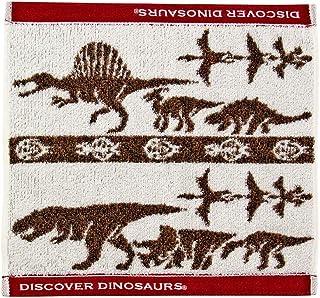 カロラータ 今治タオル アニマル ウォッシュタオル (恐竜) 日本製 タオル [吸水性抜群] 白亜紀の恐竜・翼竜 (ベージュ) 約34×35cm