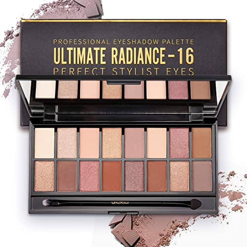 ONLYOILY 16 couleurs Palette Ombres à Paupière Ultra Shimmer Matte Pigmentée, Palette de Maquillage Fard à Paupière P...