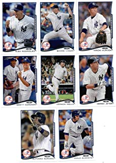 2014 Topps New York Yankees Complete (Series 1 & 2) Baseball Cards SEALED Team Set (22 Cards) With Masahiro Tanaka Rookie Card !