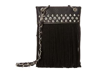 M&F Western Fringe Crossbody (Black) Cross Body Handbags