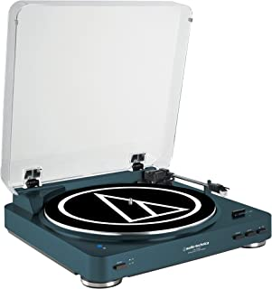Audio-Technica AT-LP60NV-BT Fully Automatic Bluetooth Wireless Belt-Drive Stereo Turntable, Navy