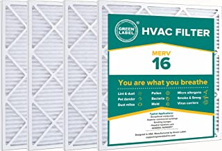 Green Label HVAC Air Filter 24x25x1, AC Furnace Air Ultra Cleaning Filter MERV 16 - Pack of 4