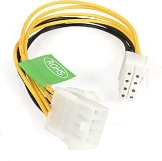 StarTech.com EPS 8 Pin Power Extension Cable - Power extension cable - 8 pin EPS12V (F) to 8 pin EPS12V (M) - 7.9 in - EPS8EXT,Yellow