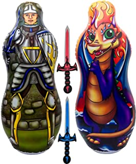 """Inflatable Punching Bag & Foam Sword Set 