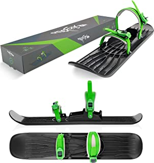 GROFM-G Mystic Green Weight Capacity 200 lbs Ages 6 and Up Gizmo Riders Onefoot Miniski- Snowboard with Bindings Great for Beginners