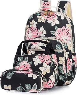 H HIKKER-LINK School Backpack Set Laptop & Lunch & Pencil Bag 3pcs Medium Black
