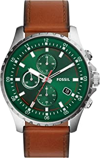 Fossil Dillinger Chronograph Luggage Leather Watch FS5734