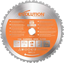 Evolution Power Tools R255TCT-28T (Rage) Multi-Material TCT Blade Cuts Wood, Metal and Plastic, 255 mm