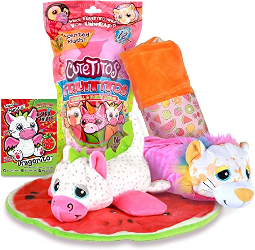 Basic Fun Cutetitos Fruititos - Surprise Stuffed Animals - Collectible Scented Plush - Series 4 - Great Gift for Girl...