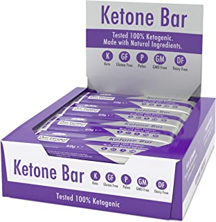 Ketone Bar (12 X 60g) | Keto Bar with All Natural Ingredients | Truly Ketogenic | Paleo & Keto Friendly | 3.1 Net Carbs per Bar | Gluten & Dairy Free | Choc Caramel Flavour | Ketosource
