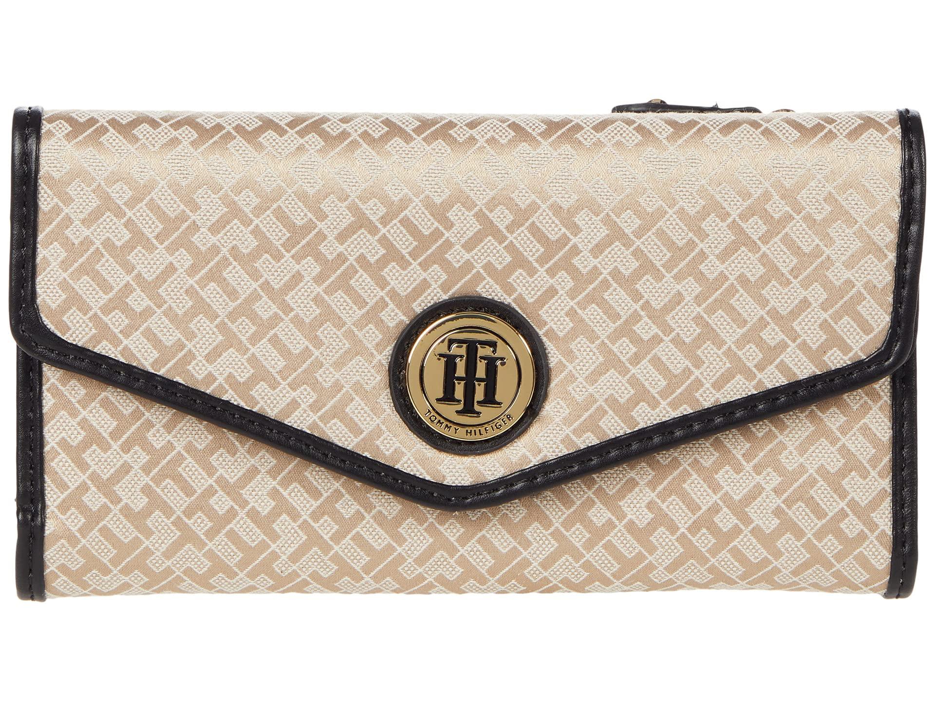 Tommy Hilfiger Tommy Hilfiger Large-Continental Envelope Wallet-Mini Geometric Jacquard