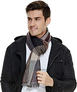 Mens Scarf Plaid Scarves FashionThin Spring Fringe The Twins Dream