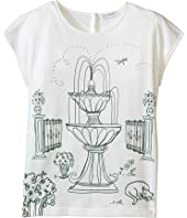 Dolce & Gabbana Kids - Botanical Garden Fountain T-Shirt (Big Kids)
