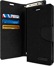 Goospery Canvas Wallet for Samsung Galaxy S8 Case (2017) Denim Stand Flip Cover (Black) S8-CAN-BLK