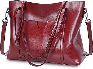 637555d3a5 Amazon.fr : Cuir - Sacs portés épaule / Femme : Chaussures et Sacs