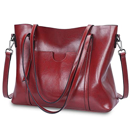 28b9f3513456 Genuine Leather Red Bag: Amazon.co.uk
