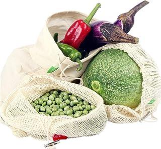 comprar comparacion Winload Bolsas de Vegetales Reutilizables, 10 Piezas Olsas de Frutas y Vegetales de Algodón, Bolsas Ecologicas para la Com...