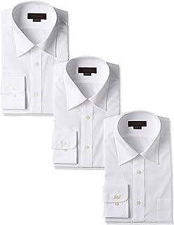 [スティングロード] 長袖 3枚セット レギュラーカラー 白ワイシャツ 形態安定 ノーアイロン 綿高率混 レギュラーフィット MA1112-AM-3 メンズ