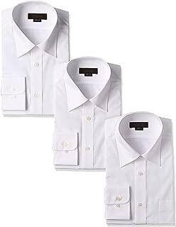 [スティングロード] 長袖 形態安定 白 ワイシャツ 3枚セット レギュラーカラー 綿高率混 レギュラーフィット ノーアイロン ビジネス 冠婚葬祭 MA1112-AM-3 メンズ
