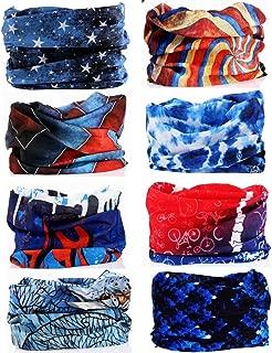 16-in-1 12PCS/8PCS/6PCS Multifunctional Yoga Sports Stretchable Seamless Casual Headband Sweatband Fishing Mask Music Festivals Magic Camo Scarf Balaclava Headwear Head Wrap