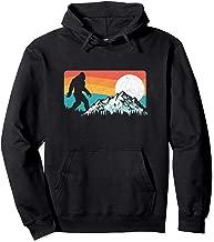 Retro Bigfoot Silhouette Rocky Mountains Hoodie