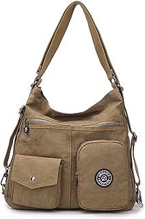 حقائب كروسبودي كاجوال للنساء ماء قماش هوبو حقائب كتف خفيفة الوزن قابلة للتحويل
