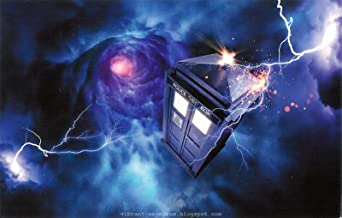 Doctor Who Tardis Vortex Edible Cake Topper Frosting 1/4 Sheet Birthday Party