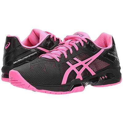 ASICS Gel-Solution(r) Speed 3 (Black/Hot Pink/Silver) Women