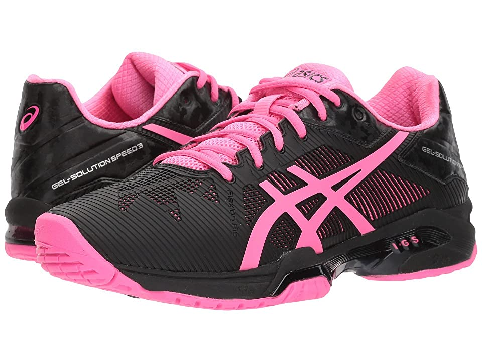 ASICS Gel-Solution(r) Speed 3 (Black/Hot Pink/Silver) Women